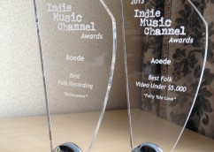 Aoede WON 2 Indie Music Channel Awards in Hollywood!